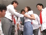 Experienced Japanese teacher Beni Itou squirts and gets bukkake