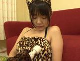 Teen kitty Tsubomi in black stockings vibrates her pussy picture 13