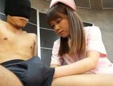 Naughty Teen Nurse Ria Mikotori Knows How To Stroke Cock picture 13