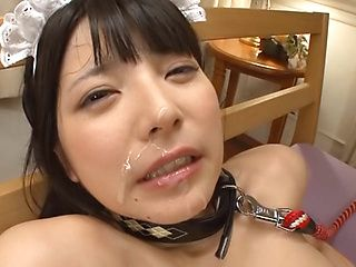 Sexy Asian maid Ai Uehara loves giving pov blowjob