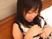 Japanese AV model enjoys a hard fucking