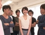 Lustful Japanese milf with tiny tits Makoto Yuuki fucked by crazy guys