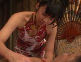 Steaming Japanese girl Rino Nanse gets oiled and massaged picture 15