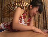 Steaming Japanese girl Rino Nanse gets oiled and massaged