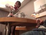 Pretty Japanese stewardess gets smacked in a rough way