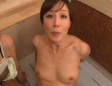 Horny chick Yui Hatano and her female friend share one cock