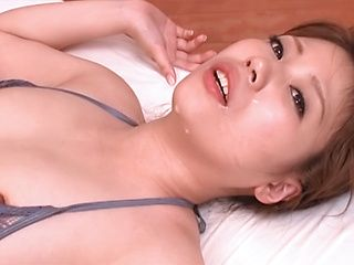 Tit fuck ends with fresh cum on face