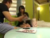 Attractive Japanese schoolgirl likes to get her pussy pleased picture 12
