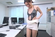 Naughty Japanese office lady strips and drills her horny wet pussyjapanese tits, hot tits, asian tits