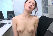 Naughty Japanese office lady strips and drills her horny wet pussyasian tits, big tits porn, boobs tits
