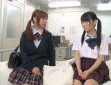 Rumi Kamida and Sayaka Otonashi amazing Japanese schoolgirls
