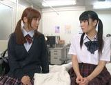 Rumi Kamida and Sayaka Otonashi amazing Japanese schoolgirls picture 8