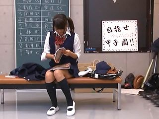 Young schoolgirl gets nailed by the horny teacher