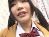 Alluring Japanese teen Nomiya Satomi is screwed in a doggystyle picture 11