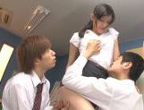 Sexy Japanese teacher Mira Tamana fucked by two guys picture 13