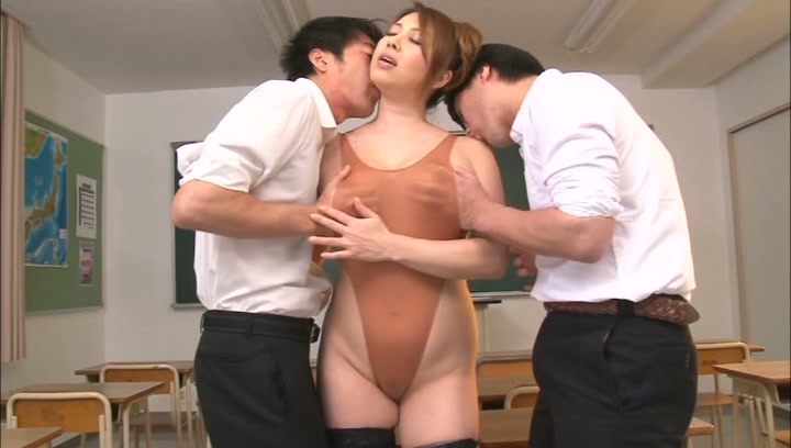 Curvy Japanese teacher Yumi Kazama gets oiled enjoys hardcore nailing picture 14