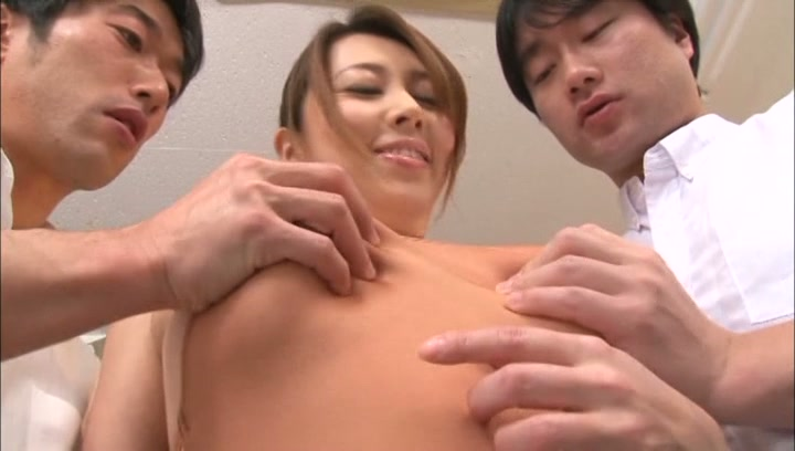 Curvy Japanese teacher Yumi Kazama gets oiled enjoys hardcore nailing picture 6
