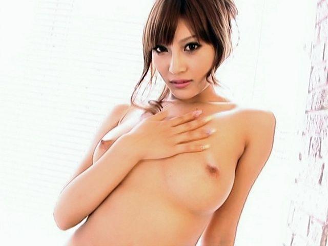 Kirara Asuka Asian beauty shows off her hot tits and ass