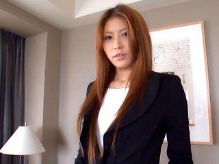 Sana Heart Lovely Asian secretary is hot
