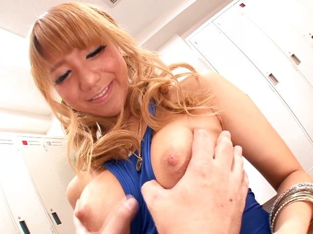 Horny Asian blondie Asuka Hoshi gets drilled really hard