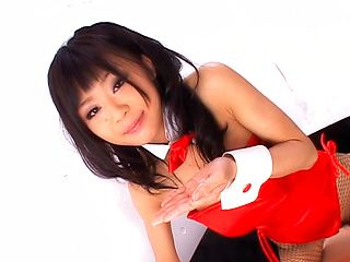 Chika Ishihara Asian model is in a sweet costume