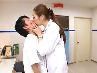 Asami Ogawa naughty nurse gives hot blowjob