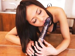 Busty milf Sayuki loves her new toy