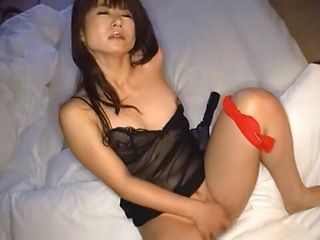Naughty Asian porn star in solo masturbation