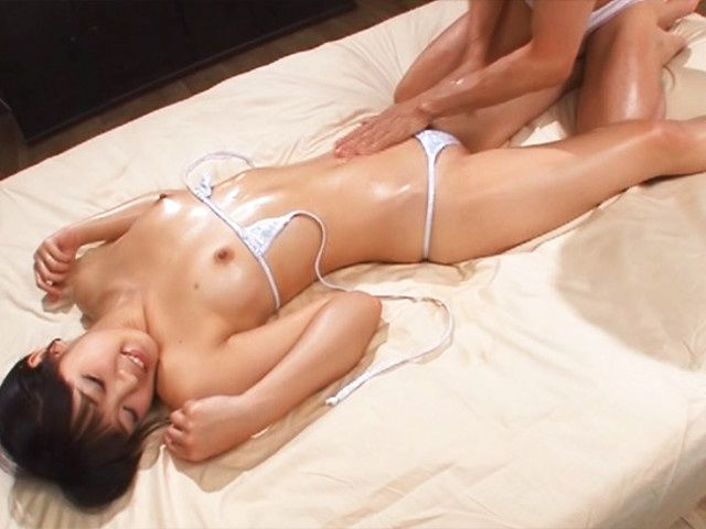 Horny Japanese Kokoro Harumiya enjoys more than massage