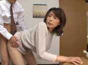 Lustful Asian mature Hisae Yabe enjoys quick sex in a kitchen