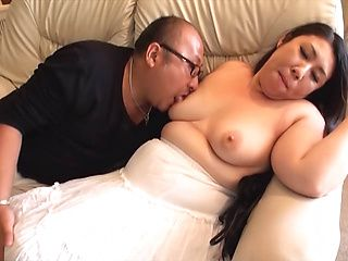 Mature Asian fatty gets plowed doggy style