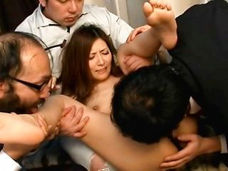 Amazing Asian babe Yuna Shiina gets fucked in a foursome