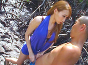 Claire Hasumi lovely Asian milf enjoys outdoor oral