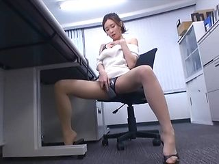 Horny Asian milf caught on cam in solo masturbation