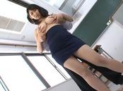 Passionate Japanese female teacher Marina Shiina shows off big tits