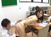 Akane Yoshinaga hot Asian milf with big tits is sexy teacher