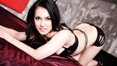 Maria Ozawa Asian model fucks two guys and sucks cock