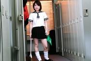 Miku Morimoto Asian schoolgirl gives a amazing blowjob