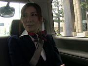 Young stewardess Yuna Shiina enjoys masturbation