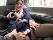 Young stewardess Yuna Shiina enjoys masturbationasian pussy, japanese sex}