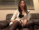 Hot MILF Natsume Inagawa in hot office suit picture 12