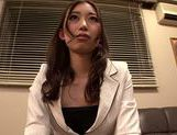 Hot MILF Natsume Inagawa in hot office suit picture 15