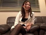 Hot MILF Natsume Inagawa in hot office suit picture 6