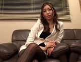 Hot MILF Natsume Inagawa in hot office suit picture 8