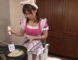 Maid Minami Kojima shows off her ass and blowjob skills picture 6
