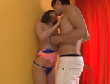 Misa Kudou enjoys cum swallowing after a hot blowjob picture 15