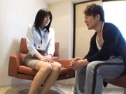 Yukako Shinohara Hot Asian office lady enjoys sucking dick
