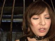 Captured busty teen Yuria Kiritani gets teased and fingered