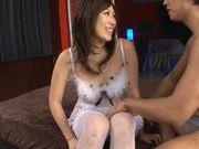 Tomoka Minami Asian doll gets fucked in her sexy white stockings
