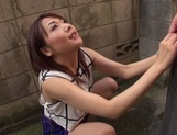 Ayako Kanou gives warm blowjob in outdoorsasian schoolgirl, japanese pussy}